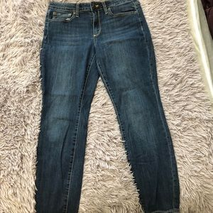 Relaxed fit blue jeans